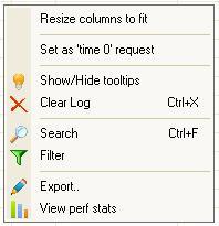 USBTrace Log View Context Menu