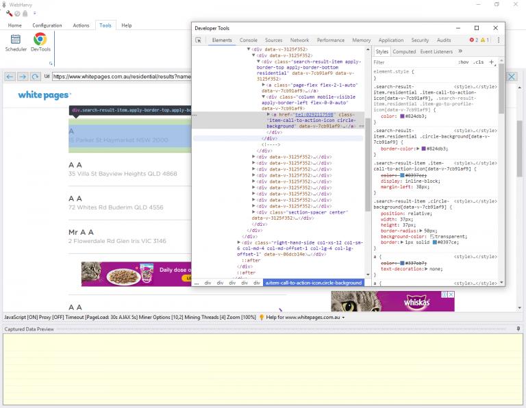 WebHarvy 5 3 (Parallel Mining, Chrome Developer Tools